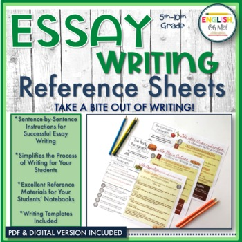 Essay Writing Bundle-Introduction, Body, & Conclusion Para