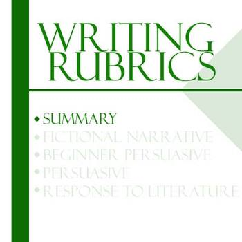 Essay Writing Rubrics - Summary Rubric