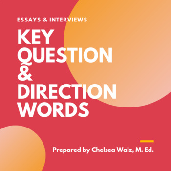 Essays & Interviews: Defining Question and Command Words