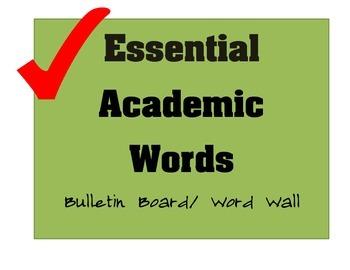 Essential Academic Words Bulletin Board