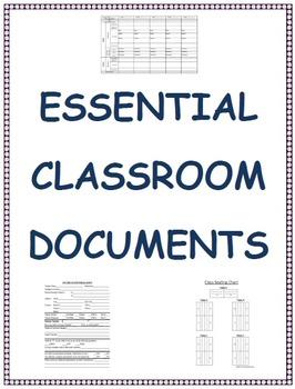 Essential Classroom Documents