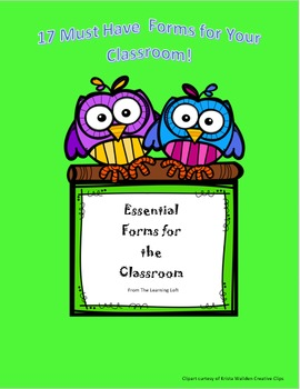 Essential Forms for Back to School and Throughout the Year