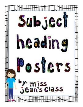 Subject Heading Posters - Cool Kids Theme