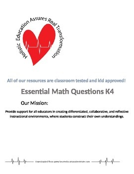Essential Math Questions K4