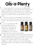 Essential Oil Text & Question Set - FSA/PARCC-Style Assessment