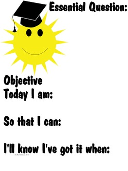 Essential Question & Objective Poster