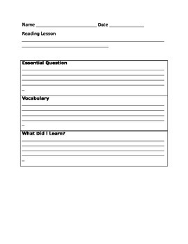 Essential Question Summarizer (Learning Focused Schools)