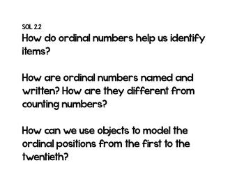 Essential Questions 2nd Grade Math