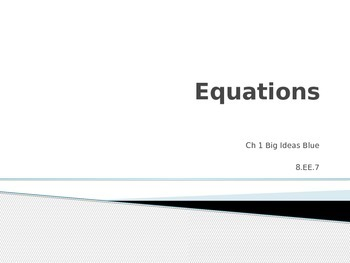 Essential Questions Big Ideas BLUE Powerpoint