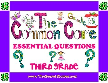 Essential Questions Posters for 3rd/ THIRD GRADE Common Co