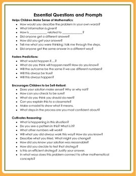 Essential Questions and Prompts