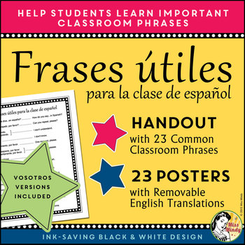 Essential Spanish Phrases for the Classroom - Handouts & Posters