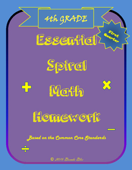 Essential Spiral Math Homework for Fourth Grade - First Ni