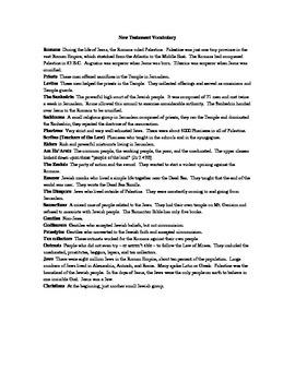 Essential Vocabulary for the New Testament