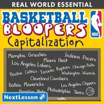 Essentials Bundle – Capitalization – Basketball Bloopers - ELA