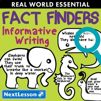 Essentials Bundle – Informative Writing – Fact Finder - ELA