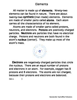 Essentials of Physical Science: Matter and Elements 4th – 8th