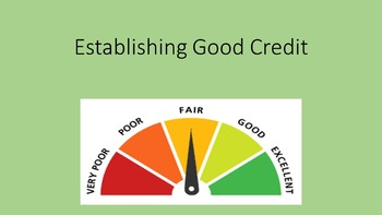 Establishing Good Credit Lesson