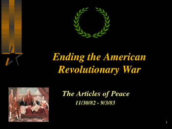 American Revolutionary War - Articles of Peace
