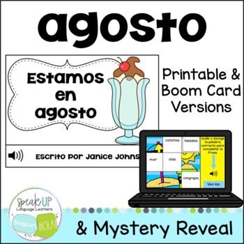 Estamos en agosto ~ Spanish August reader {libro en español}