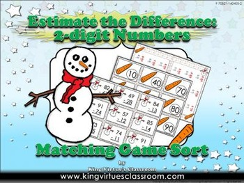 Estimate the Difference: 2-digit Matching Game Sort Subtra