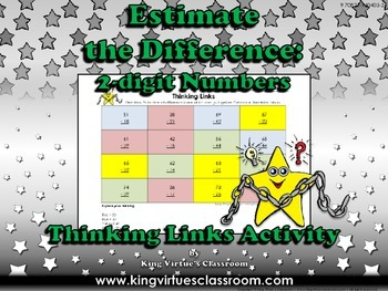 Estimate the Difference: 2-digit Numbers Thinking Links #3