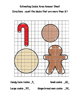 Estimating Area with Cookie shapes