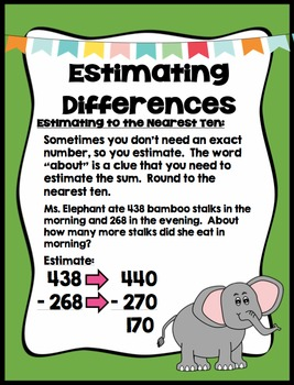 Estimating Differences - Math Center