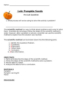 Estimating Pumpkin Seeds Lab