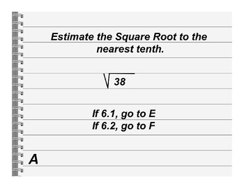 Estimating Square Roots Activity
