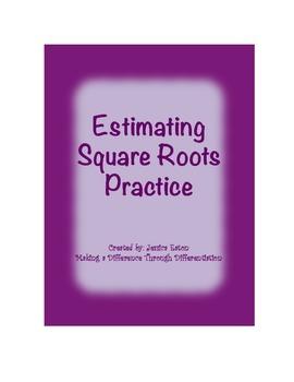 Estimating Square Roots Practice