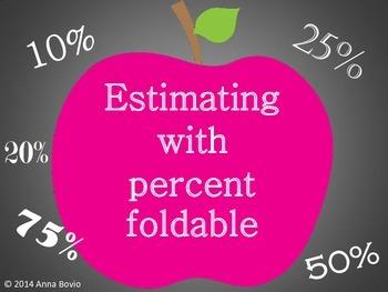 Estimating percent foldable - Interactive math notebook