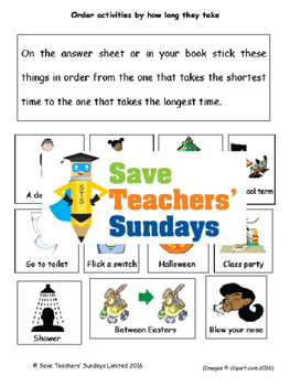 Estimating time lesson plans, worksheets and more