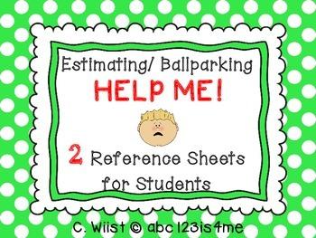 Estimation - Estimating / Ballparking {HELP ME!} Reference