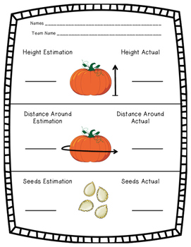 Estimation Pumpkin Investigation
