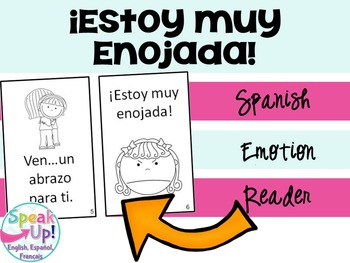 Estoy muy enojada Spanish Emergent Reader Book {Dual langu