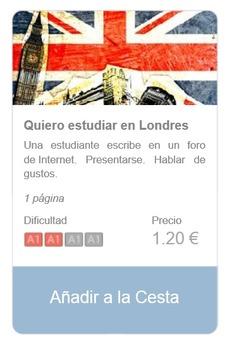 Spanish Reading (beginners): Quiero estudiar en Londres