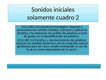 Initial  Phonetic Spanish sounds # 2