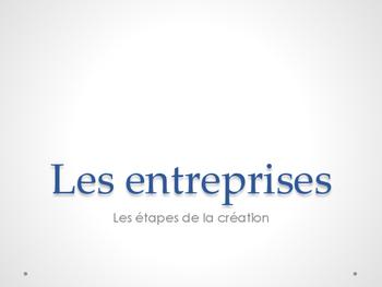 Étapes pour créer une entreprise
