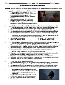 Eternal Sunshine [...] Film (2004) 15-Question Multiple Ch