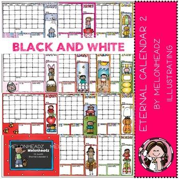 Melonheadz: Eternal calendar Part 2 - Boys - BLACK AND WHITE