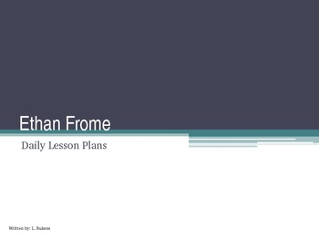 Ethan Frome Unit Lesson Plan