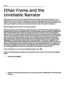 Ethan Frome and the Unreliable Narrator