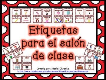 Etiquetas para el salón de clase