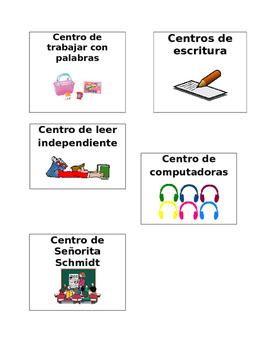Etiquetas para los centros, Labels for centers