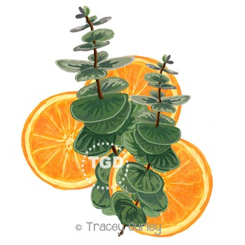 Eucalyptus and Orange Slices Printable Tracey Gurley Designs