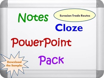 Eurasian Trade Routes Pack (PPT, DOC, PDF and Activity Guide)