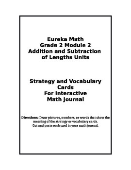 Eureka Grade 2 Module 2 Strategy/Vocabulary Cards