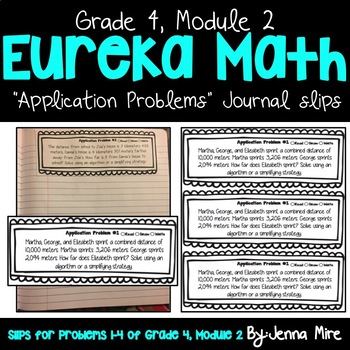 Eureka Math 4th Grade Module 2 Application Problems