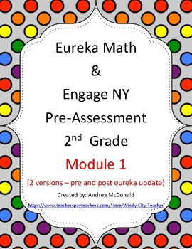 Eureka Math / Engage NY 2nd Grade Pre-Assessment Module 1